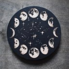 Phases of the Moon - Wood Coaster