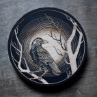 Raven Moon - Wood Coaster