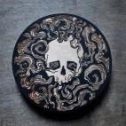 Smoking Skull - Wood Coaster