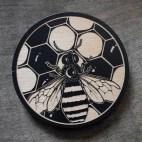 Honey Bee - Wood Coaster