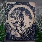 "Earth Elemental - 11x14"" Wood Engraving"