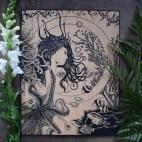 "Water Elemental - 11x14"" Wood Engraving"