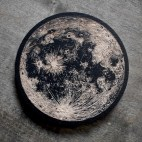 Full Moon - Wood Coaster
