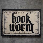 """Book Worm - 4x6"""" Wood Engraving"""
