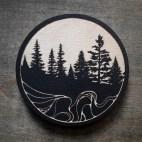 Conifers - Wood Coaster