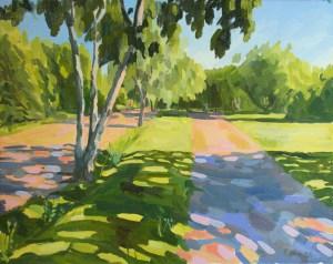 Wimbledon Common painting oil