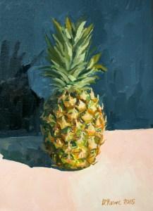 Pineapple Supersweet fruit still life painting