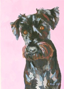Ruby the Schnauzer, 25x35cm commission