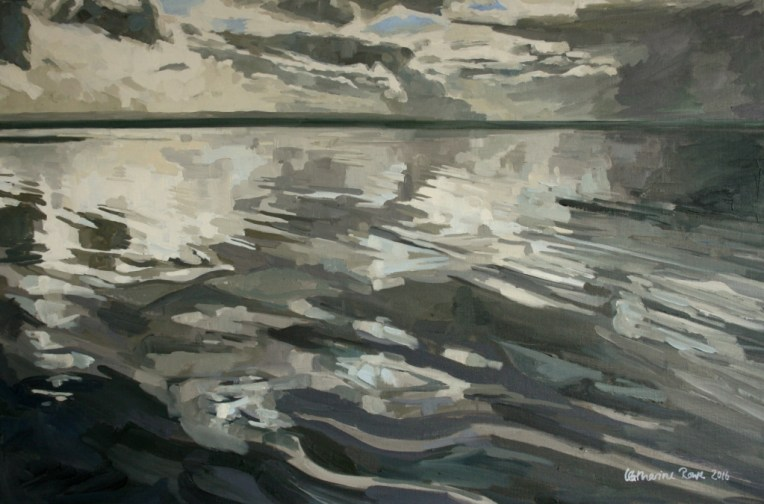 Low October tide at Saunton Sands, 90x60cm unframed, £750