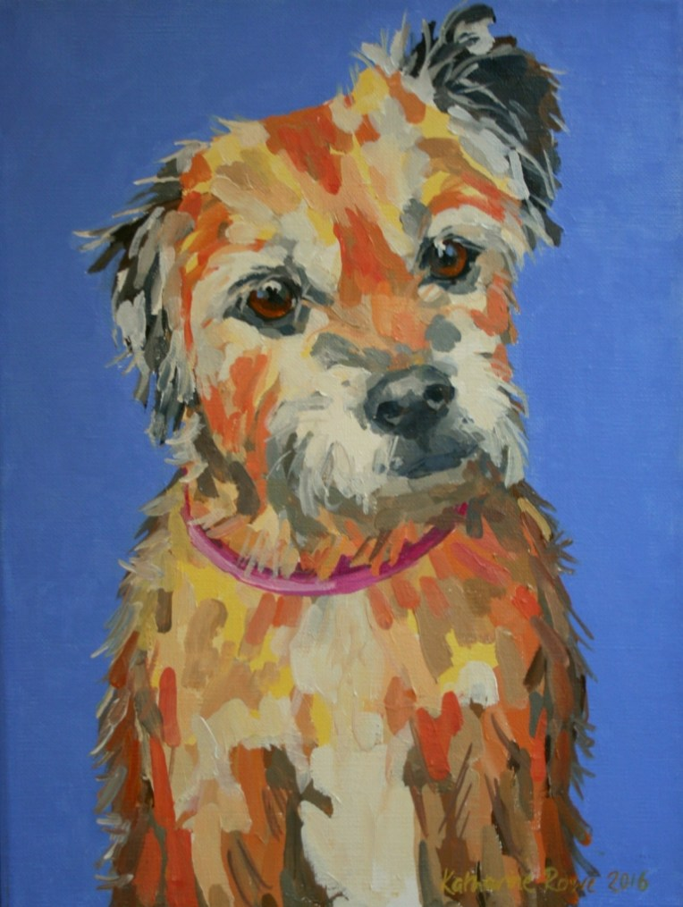 Missy the Border Terrier, 27x35cm commission
