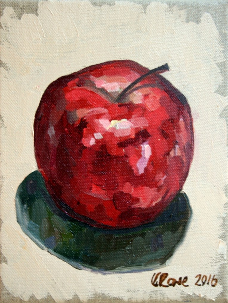 Red Delicious, 14x18cm unframed, £75