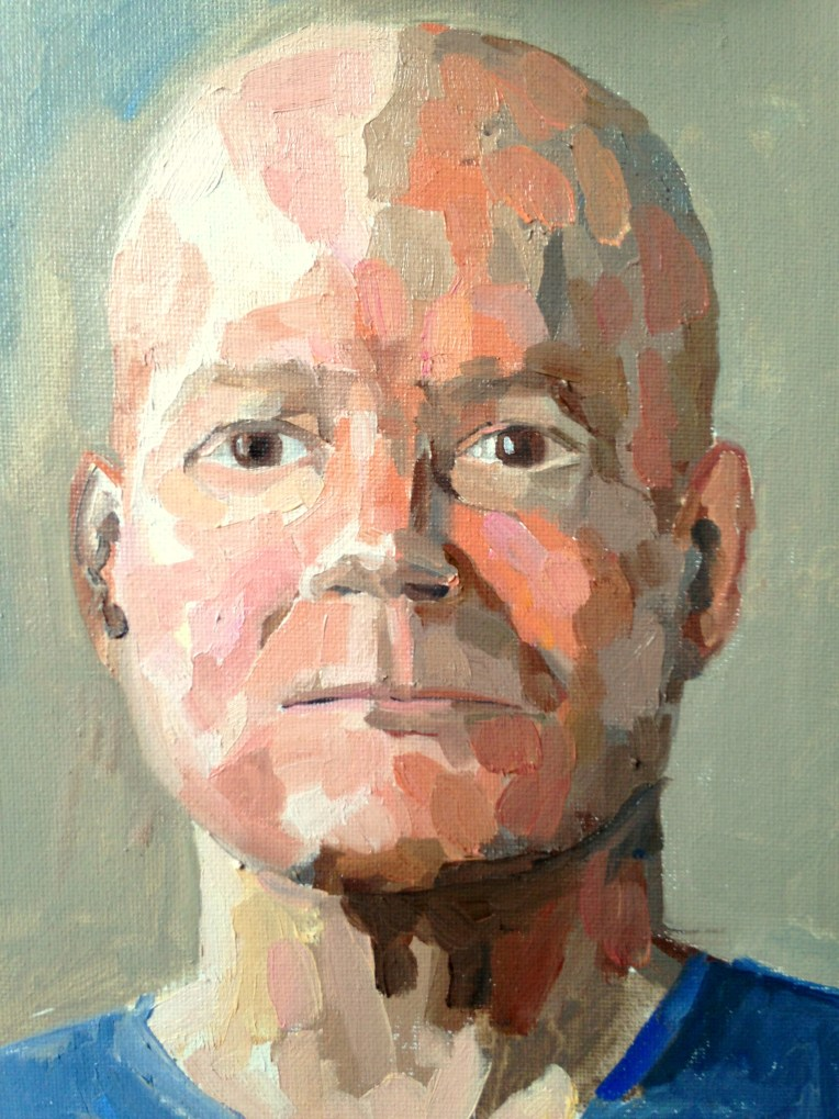 portrait of phil, oil on canvas board