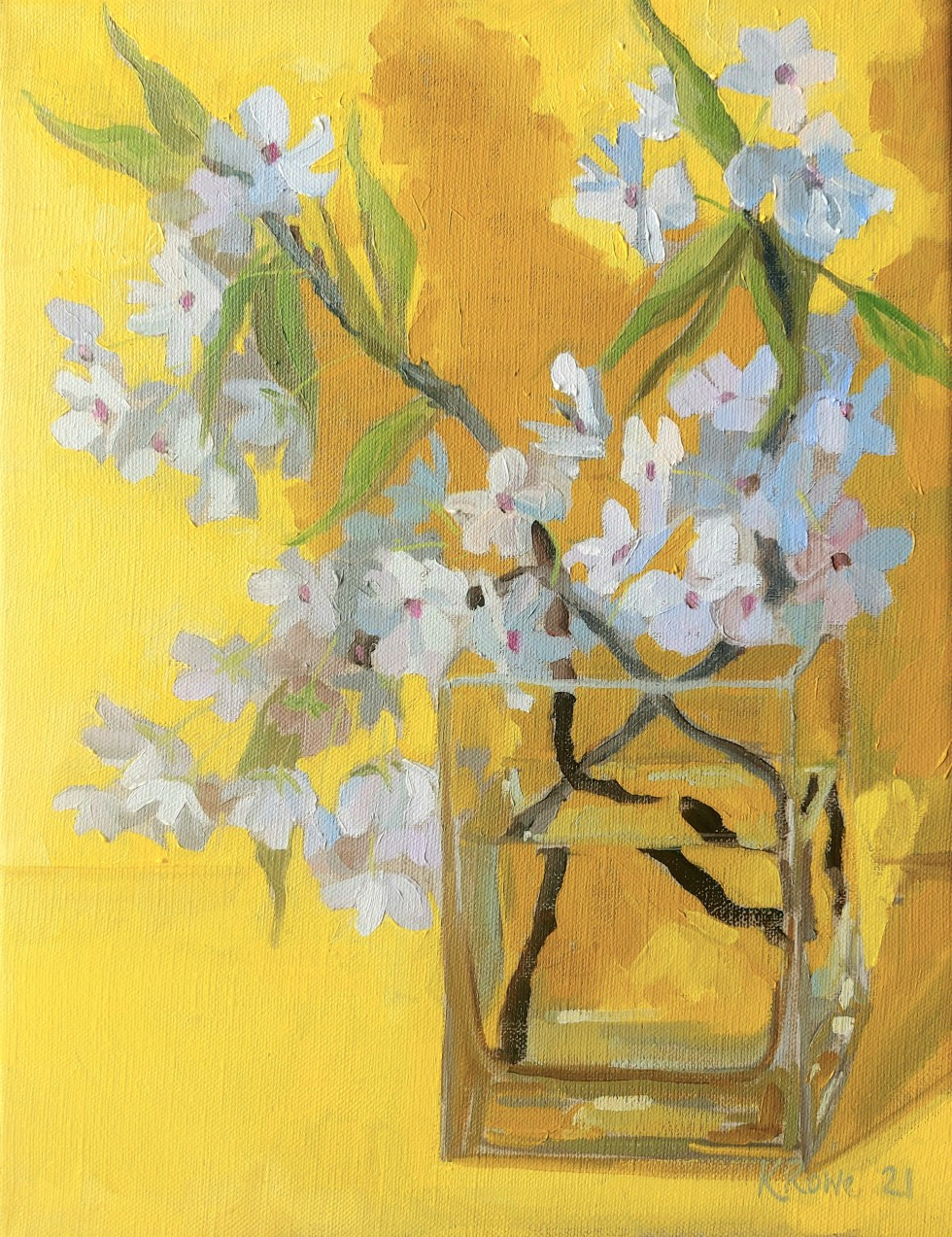 blossom oil painting