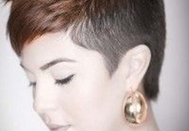 Sided Shaved Hairstyles Haircuts For Girls Fr Pinterest