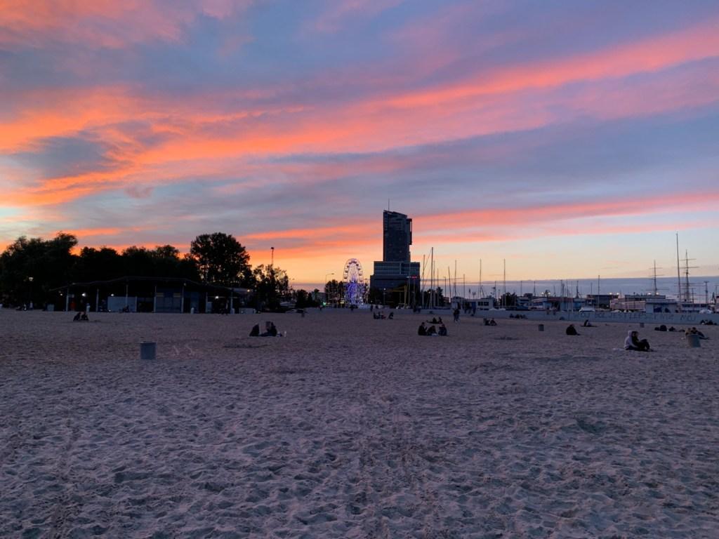 Plaża w Gdyni 2020.07.16