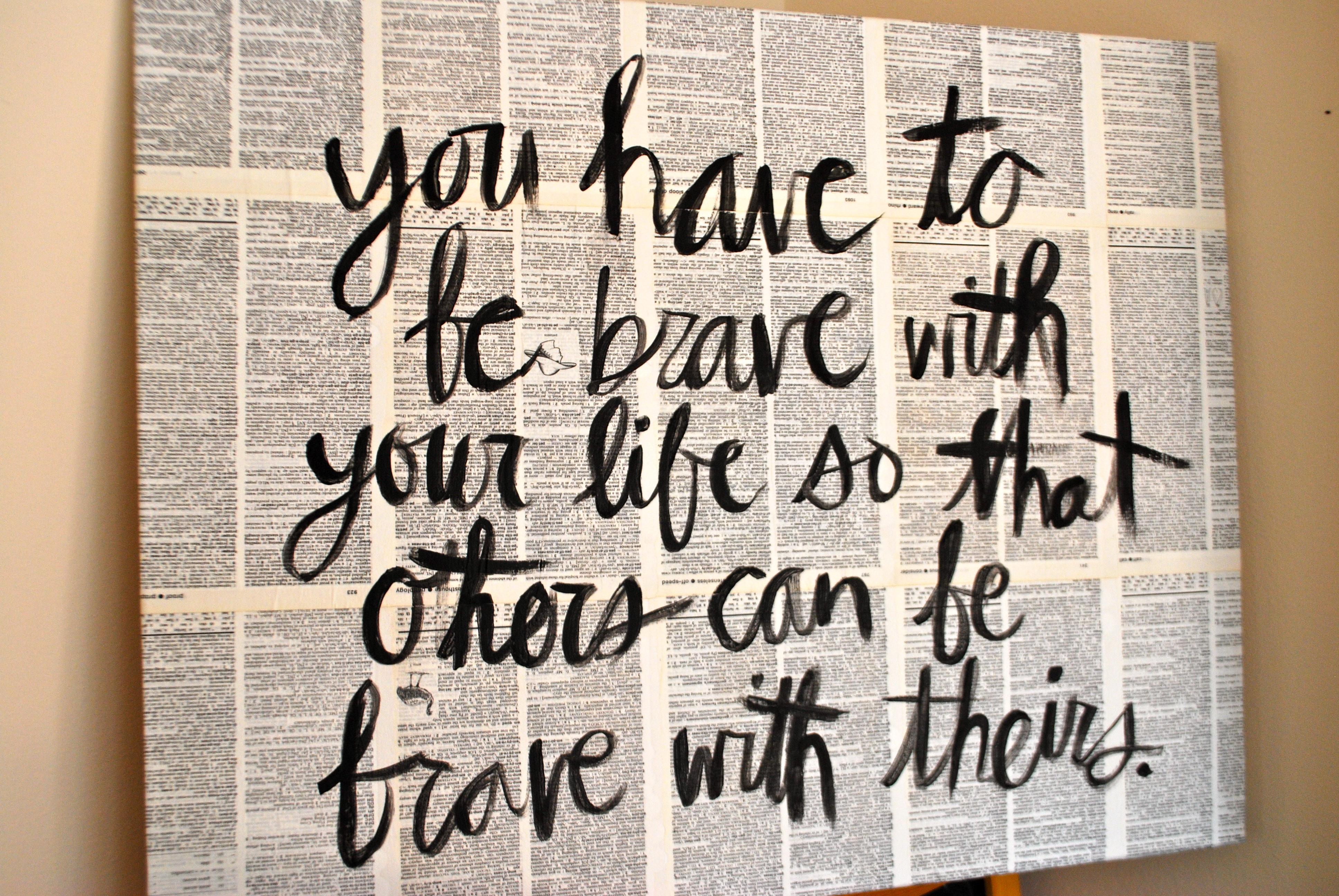 words on canvas katherine