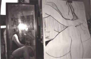Self-Portrait in Studio by Kat Chua