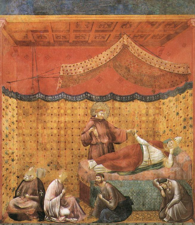 Giotto_-_Legend_of_St_Francis_-_-25-_-_Dream_of_St_Gregory