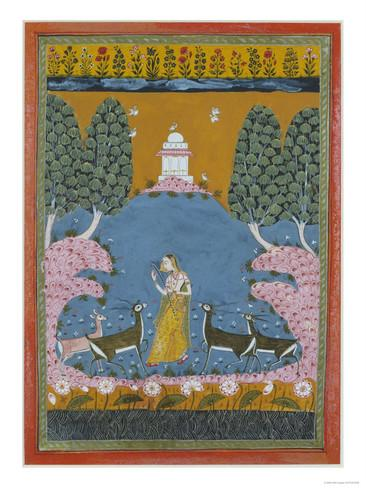 todi-ragini-playing-the-vina-to-four-deer