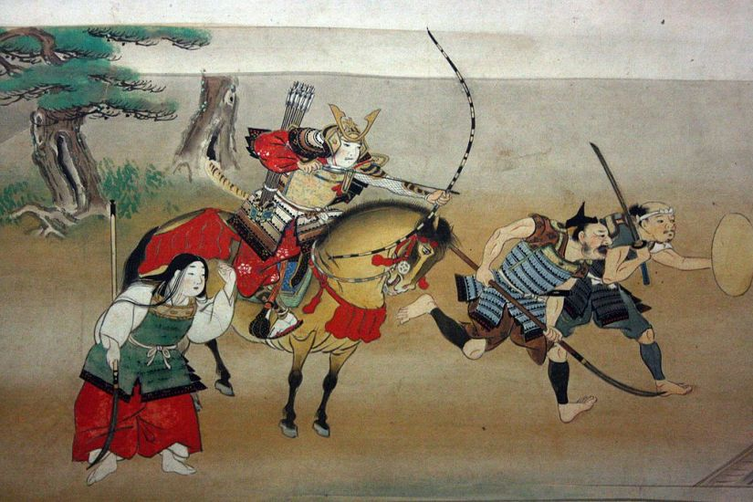 Illustrated_Story_of_Night_Attack_on_Yoshitsune's_Residence_At_Horikawa,_16th_Century_2
