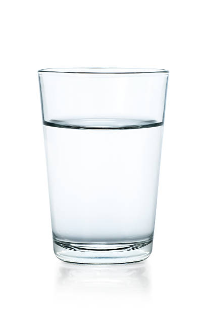 """Glass of water, isolated on white"""