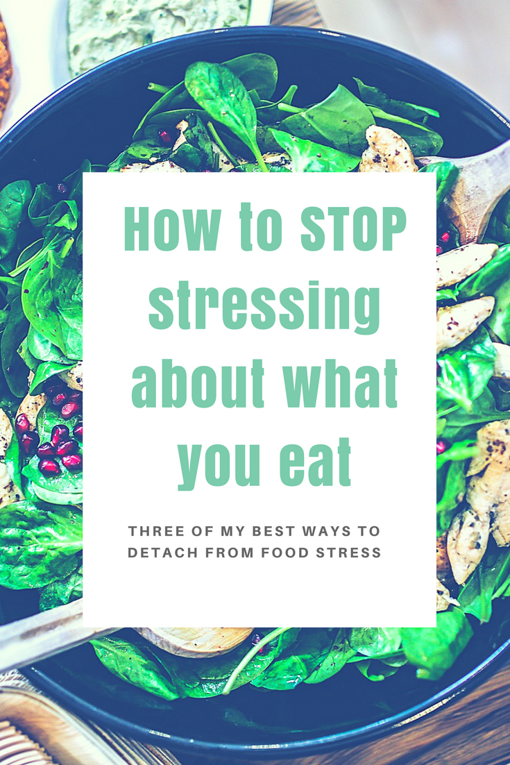 I hear from women all the time that their #1 struggle is eating well without getting obsessive. Here are my top three ways to stop stressing about food.