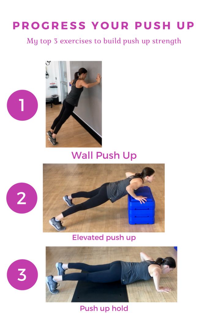 Learn the 3 best exercises to improve your push up. push up challenge - how to do a push up - beginner push up - push up workout