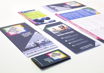 Brisbane Student Hub brochure and pocket card