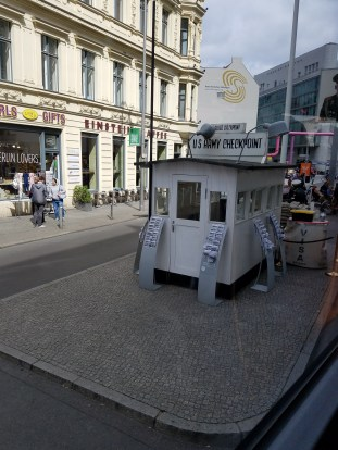 Replica of the Checkpoint Charlie booth