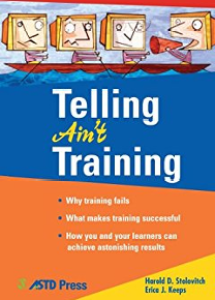 Telling Ain't Training cover