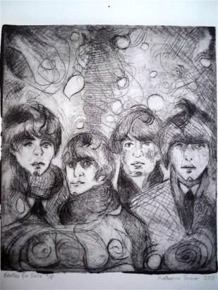 Beatles for Sale 6x6 Intaglio Print January 2010