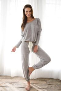 Eberjey Heather Cropped Pant and Top