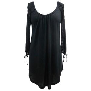 Rosette Tunic, Black
