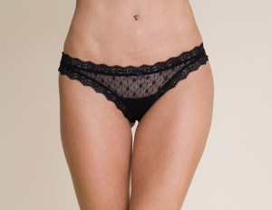 Lace Low Rise Boythong, Black