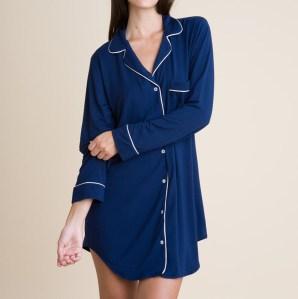 Gisele Sleep Shirt, Blue