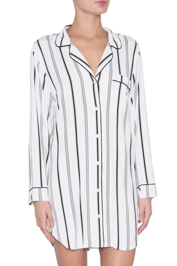 h1141_sleep chic sleep shirt_winter stripes_navy