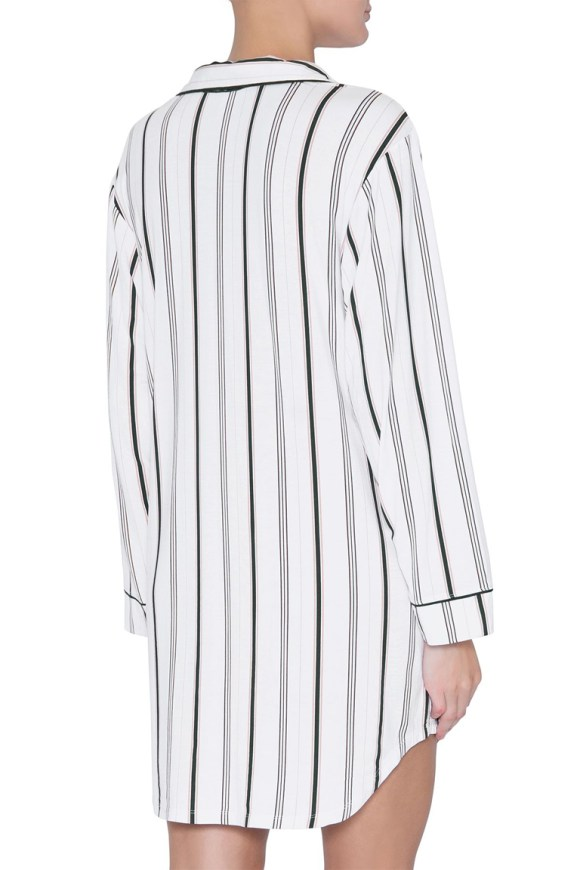 h1141_sleep chic sleep shirt_winter stripes_navy_back