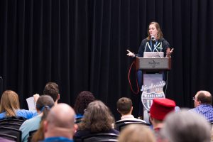 Katherine White presenting at WCUS 2017