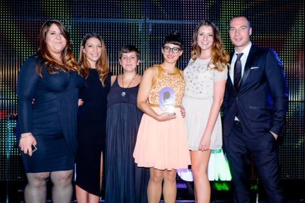 Team TMW on stage at Social Buzz Awards 2015 - Magnum