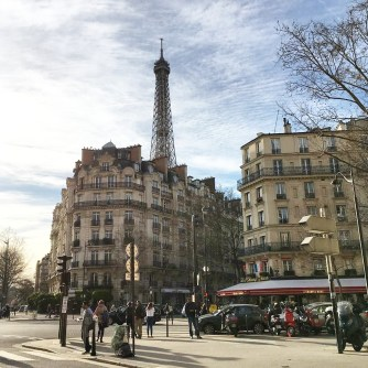 Call Me Katie - Instagramable Spots in Paris - La Tour Eiffel in the distance