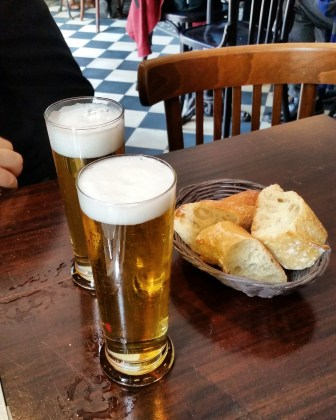 Call Me Katie - Where to Eat in Paris - Hotel du Nord - baguette and beer