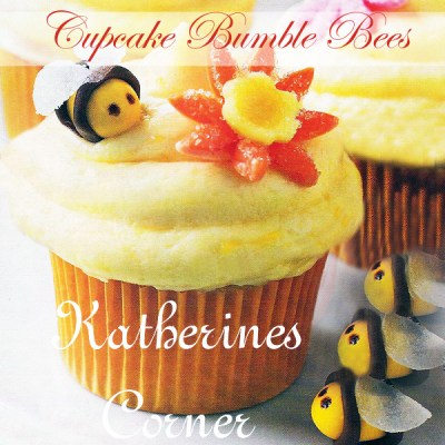 Easter Cupcake Bumble Bees