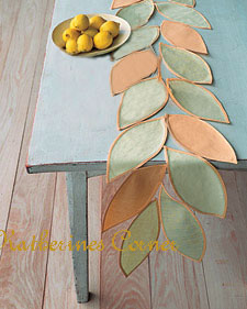 Make A Lovely Table Runner For Your Summer Table