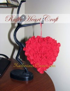 ruffle heart craft