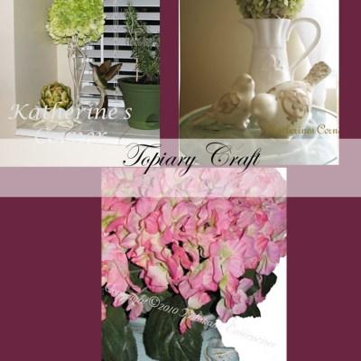 hydrangea topiary craft