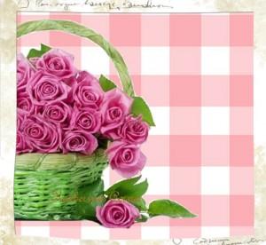 pink-roses-green-basket-katherines corner