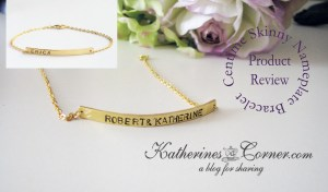 centime skinny nameplate bracelet review