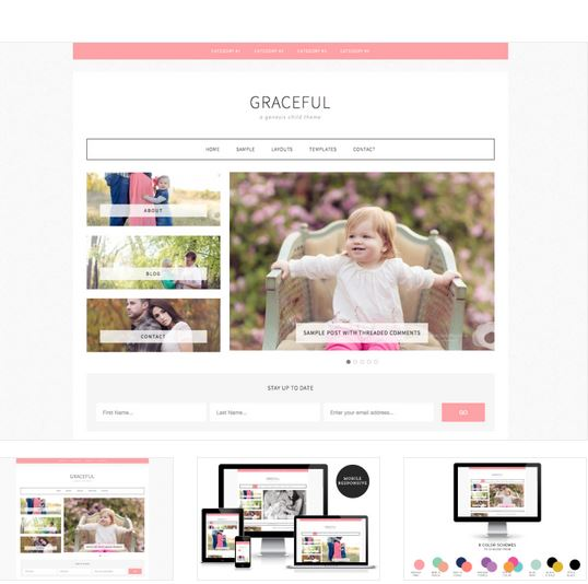 graceful wordpress blog design by