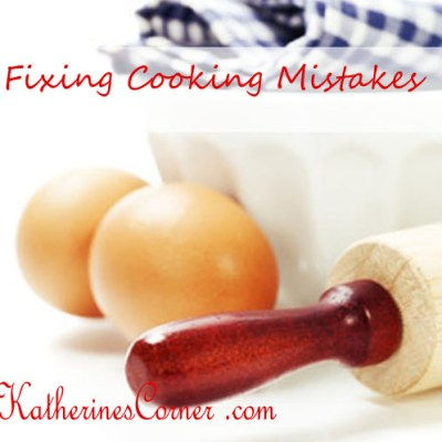 fixing cooking mistakes