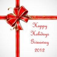 happy holidays giveaway button